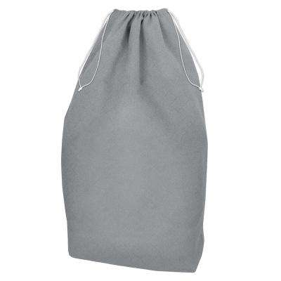 Gray Non Woven Jumbo Drawstring Laundry Bag