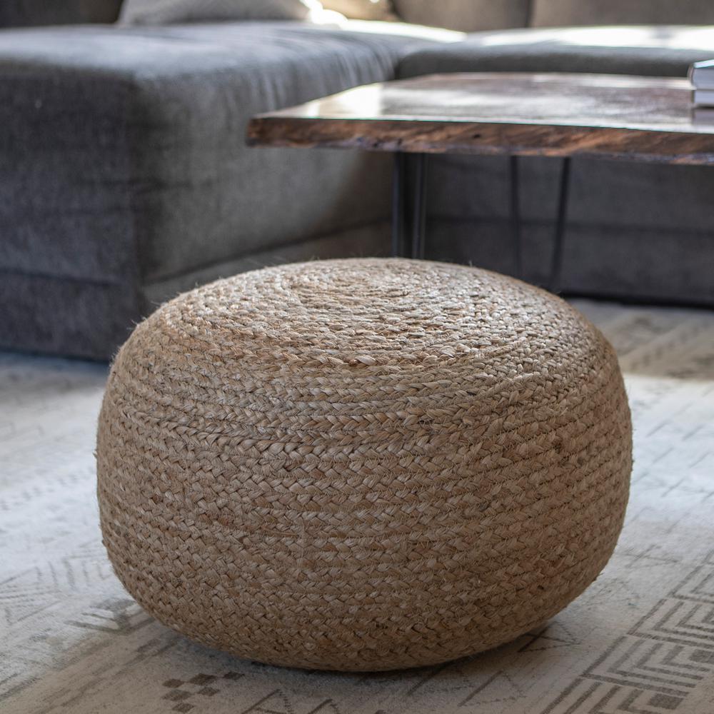Pouf Natural Woven Ottoman