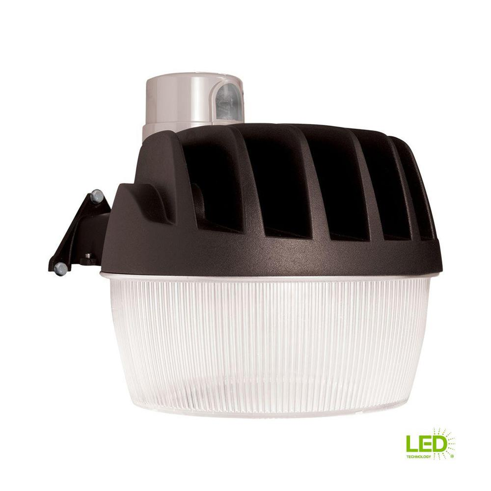 Heath Zenith Outdoor Security Lighting The Motion Sensor Light Wiring Diagram Bronze Integrated Led Area Dusk To Dawn With