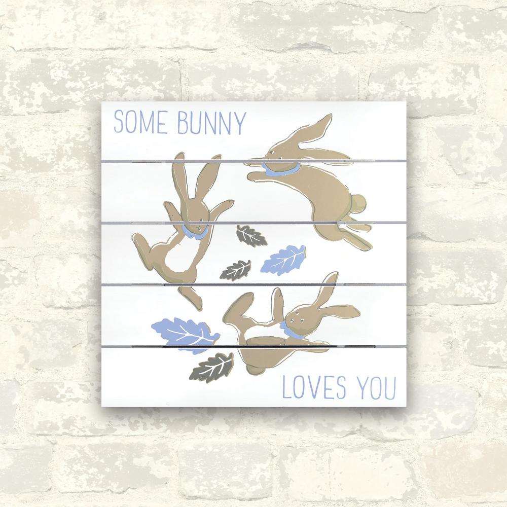 12 in. x 12 in. Some Bunny Loves You 1-Piece Plank