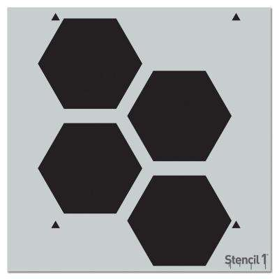 Hex Repeat Pattern Stencil