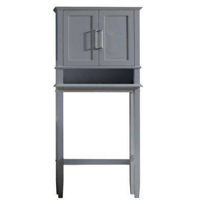 Madison 30 in. W x 65-1/10 in. H x 10 in. D 2-Door Over the Toilet Storage Cabinet in Gray