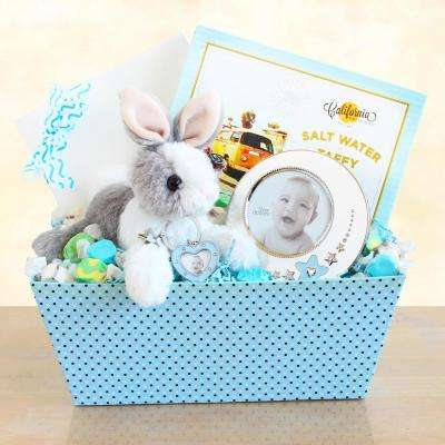 Welcome Baby Bunny and Picture Frame Gift Set for Boy