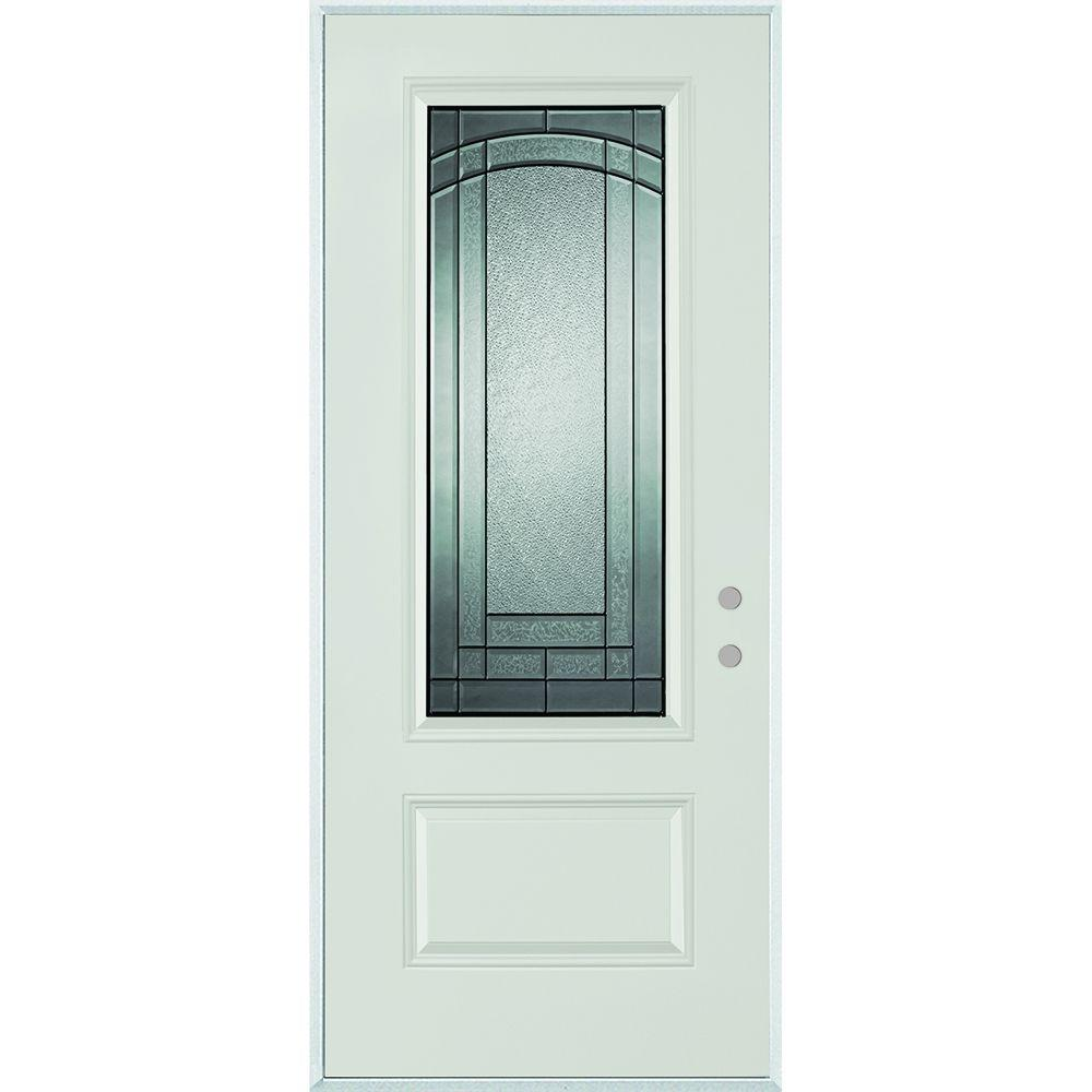 Fruitesborras 100 steel entry door home depot images the 37 375 in x 82 chatham 3 4 lite 1 panel painted stanley doors front exterior the home depot rubansaba