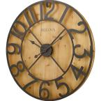 29 in. H x 29 in. W Round Gallery Wall Clock in Knotty Pine Veneer
