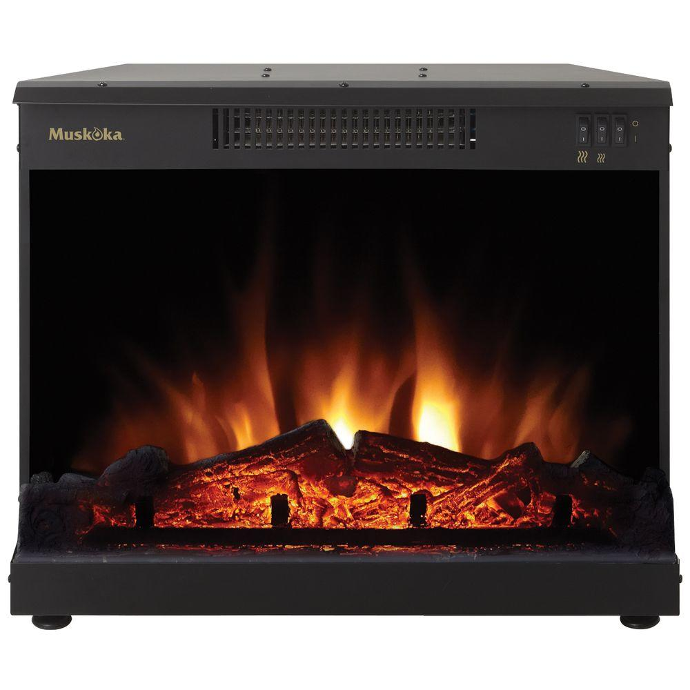 null Masonry 24 in. Electric Fireplace Insert