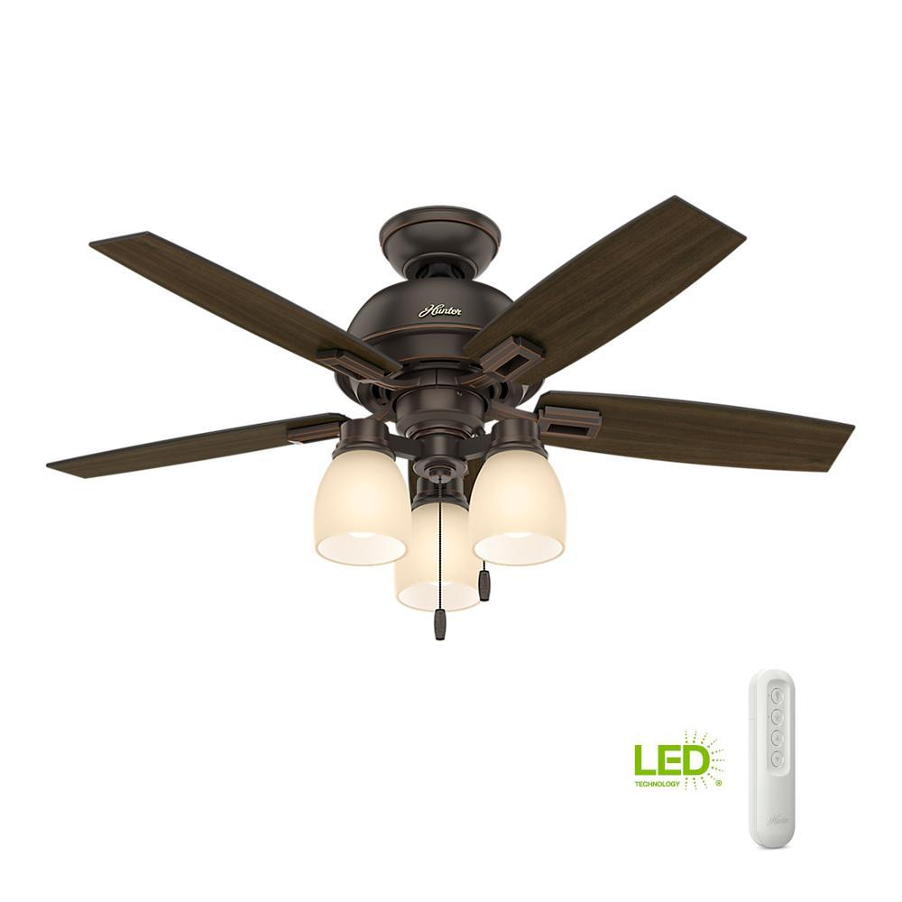 52 Onyx Bengal 4 Light Ceiling Fan With Light Kit: Home Decorators Collection Daylesford 52 In. LED Indoor