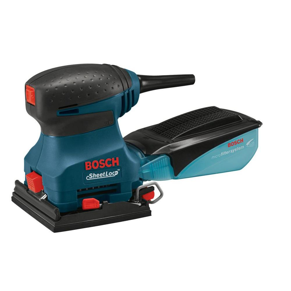 Bosch 2 Amp 1 4 In Corded Electric Finishing Orbital Sander 1297d The Home Depot