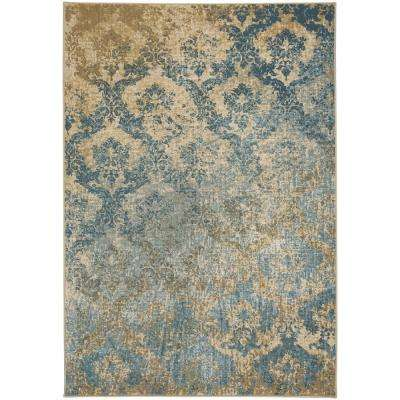 Kevin O ft. Brien Cavalcade Adriatic Blue 5 ft. 3 in. x 7 ft. 6 in. Area Rug