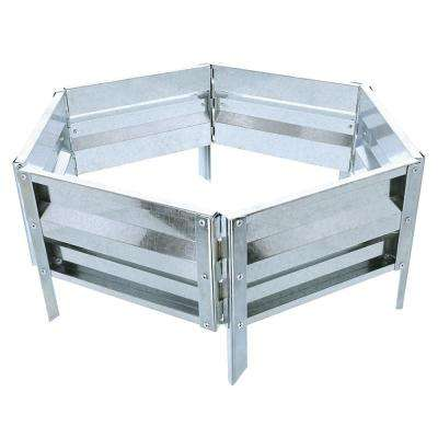 18 in. x 21 in. Silver Raised Garden Bed