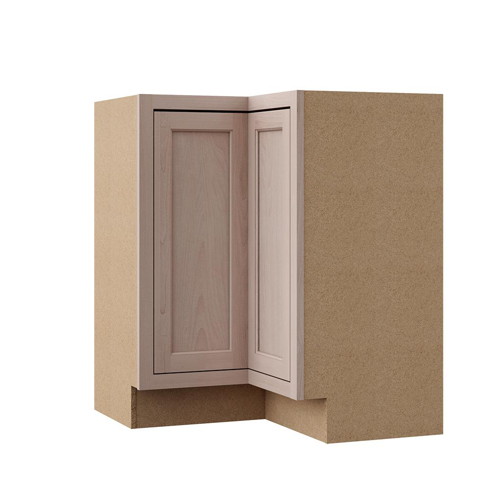 Hampton Bay Hampton Assembled 28 5x34 5x16 5 In Lazy Susan Corner Base Kitchen Cabinet In Unfinished Beech Kblsn36 Ufdf The Home Depot