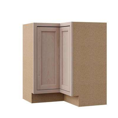 Hampton Assembled 28.5x34.5x16.5 in. Lazy Susan Corner Base Kitchen Cabinet in Unfinished Beech