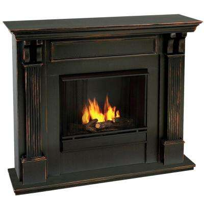 Ashley 48 in. Gel Fuel Fireplace in Blackwash