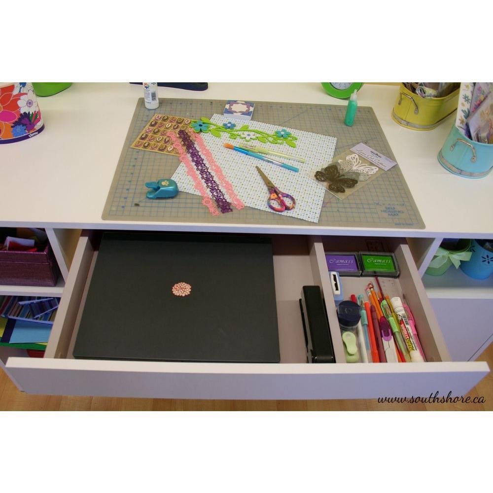 Internet #204167654. +7. South Shore Crea Desk In Pure White