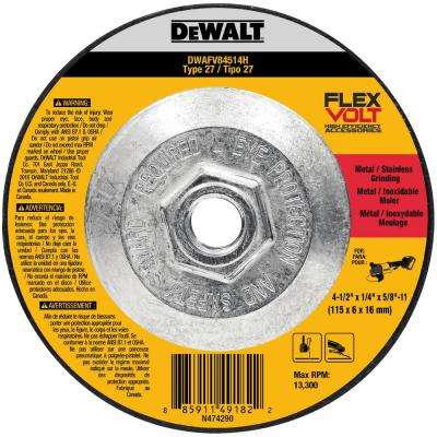 FLEXVOLT 4-1/2 in. x 1/4 in. x 5/8 in.-11 Grinding Wheel Type 27