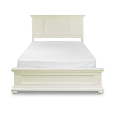 Dover White Queen Panel Bed