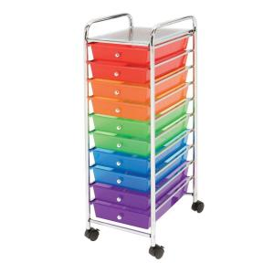 Seville Classics 10-Drawer Steel Organizer Cart in Multi-Color by Seville Classics