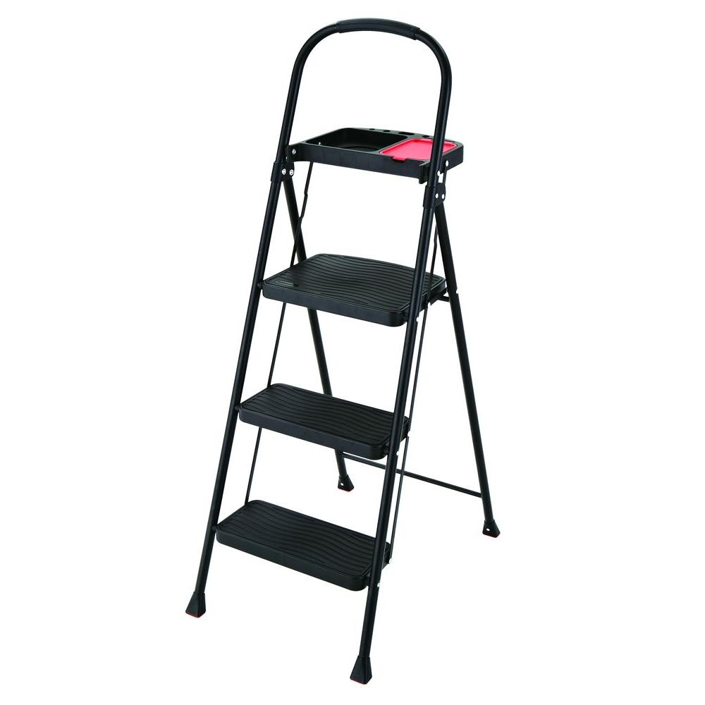 Rubbermaid 3-Step Steel Step Stool with Project Tray 225 lb. Load Capacity Type  sc 1 st  The Home Depot & Rubbermaid 3-Step Steel Step Stool with Project Tray 225 lb. Load ... islam-shia.org