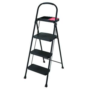 Rubbermaid 3 Step Steel Step Stool With Project Tray 225