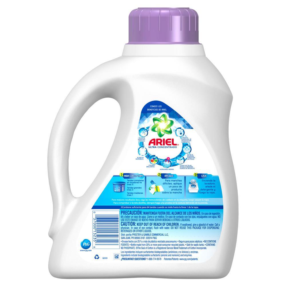 Ariel Ultra 100 Oz Liquid Laundry Detergent 64 Loads 003700013235 The Home Depot