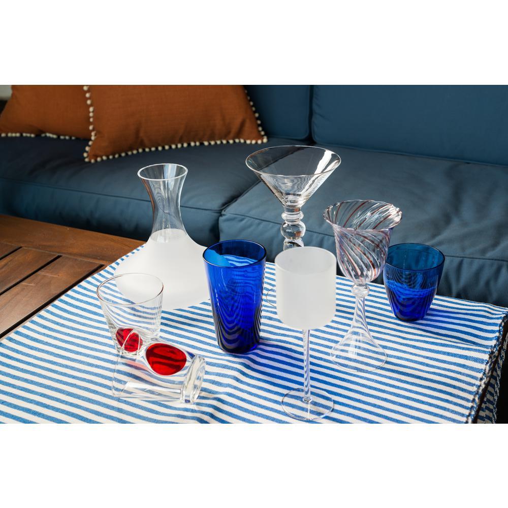 "Red Swirl Wine Glass, 6 oz., (Set of 4), 3.5""D x 7.75""H"
