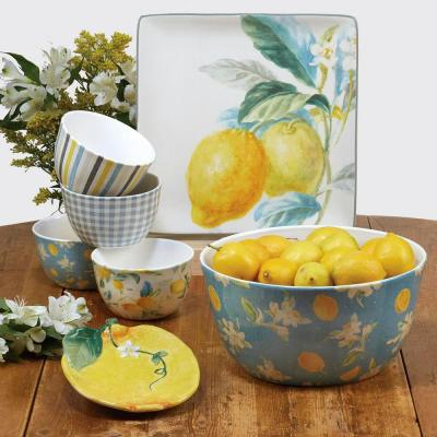 Multi-Colored 18 oz. Citron 3-D Lemon Covered Bowl