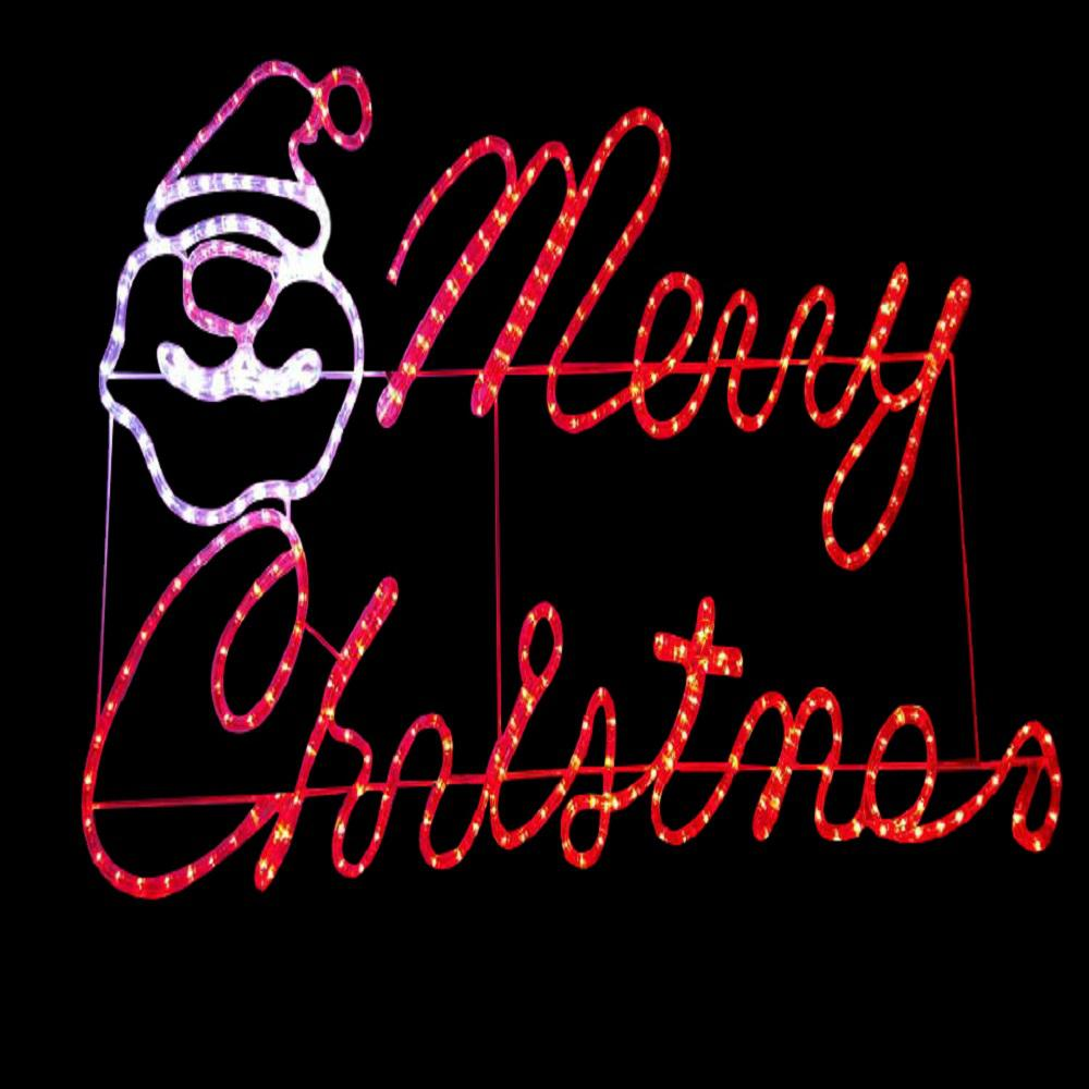 47 in x 24 in merry christmas motif 13 310 the home depot for Outdoor christmas signs