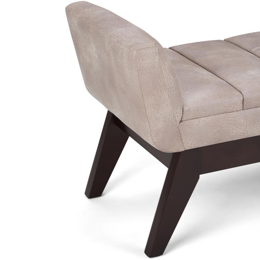 Surprising Simpli Home Langdon 56 In Ottoman Bench In Distressed Light Evergreenethics Interior Chair Design Evergreenethicsorg