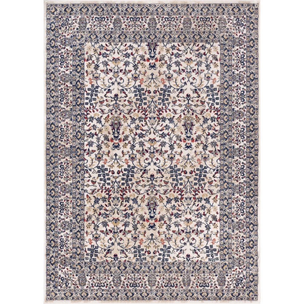 Well Woven Luxury Keshan Blue 8 Ft X 11 Ft Traditional Oriental