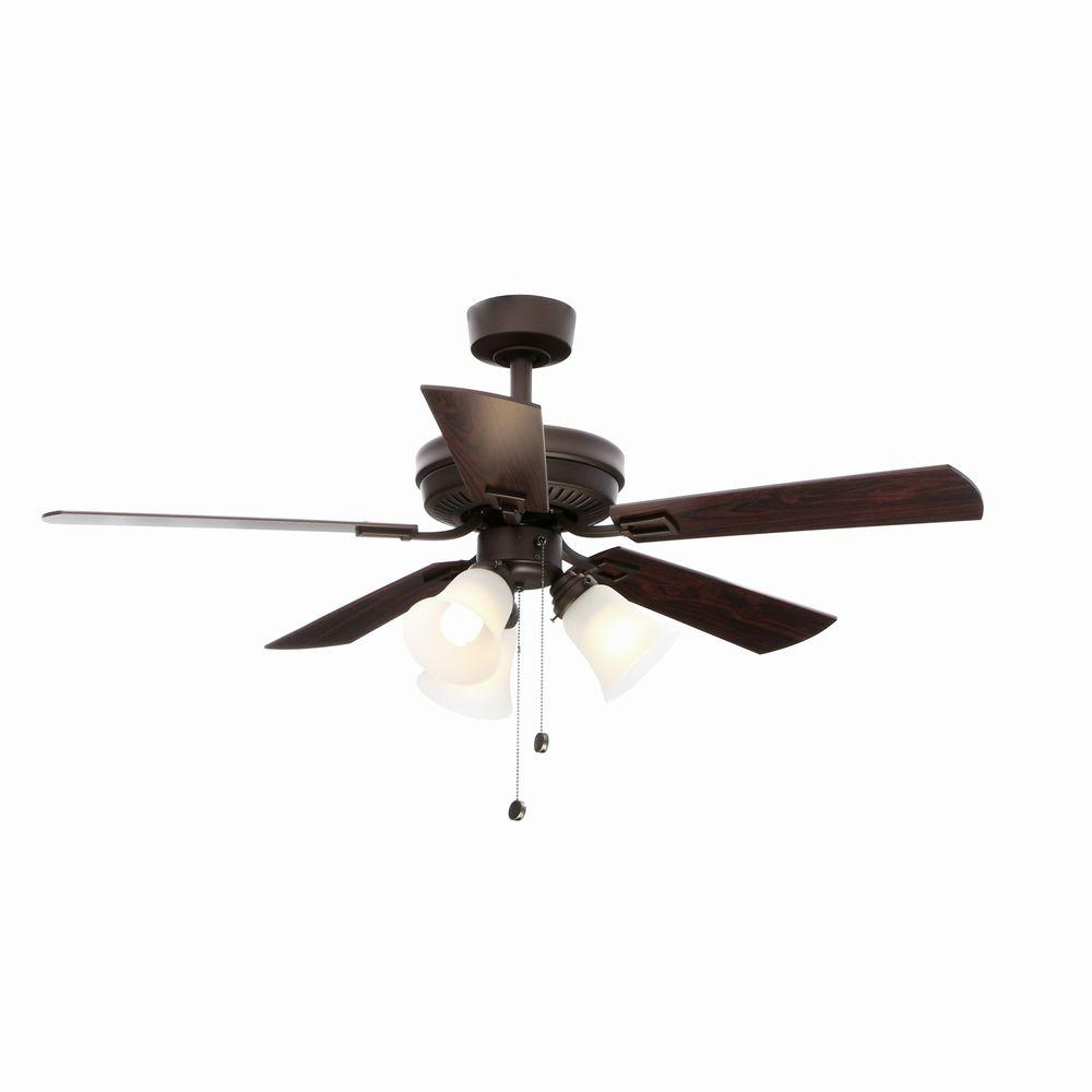 Hampton Bay Sinclair 44 in Indoor Tarnished Bronze Ceiling Fan