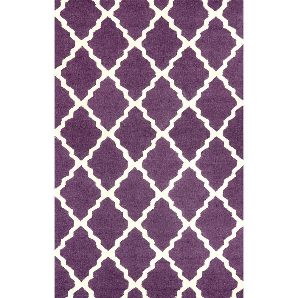 Nuloom trellis purple 2 ft x 3 ft accent rug mtvs27h 203 for Rugs with purple accents