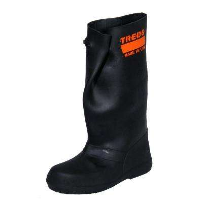 17 in. Men Small Black Rubber Over-the-Shoe Boots, Size 6-7