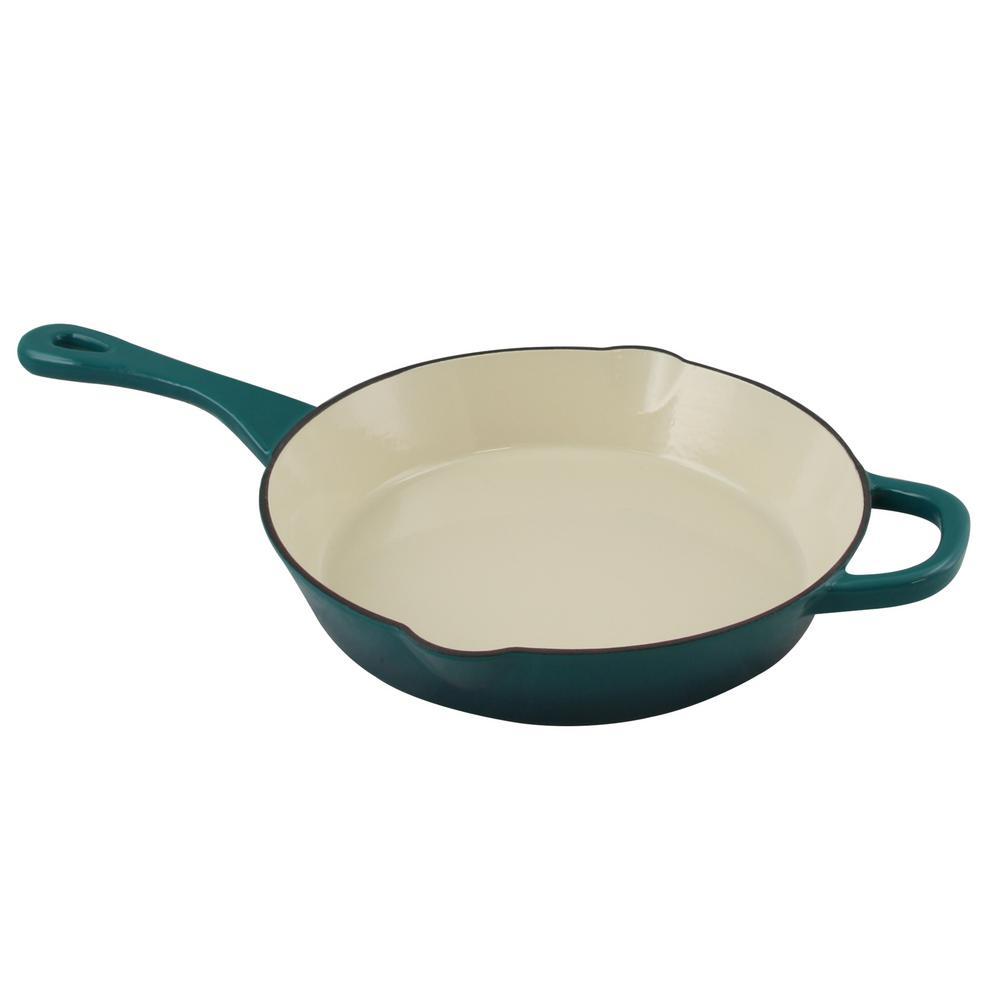 crock pot artisan round enameled cast iron skillet 985100789m the home depot. Black Bedroom Furniture Sets. Home Design Ideas