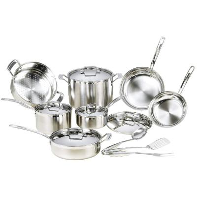 15-Piece Premium Grade Stainless Steel Cookware Set with Lids