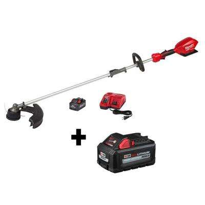 M18 FUEL 18-Volt Lithium-Ion Brushless Cordless String Trimmer w/ QUIK-LOK Attachment Capability W/ 8Ah & 6Ah Battery