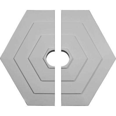 23-1/4 in. O.D. x 3-1/2 in. I.D. x 7/8 in. P Woodruff Ceiling Medallion (2-Piece)