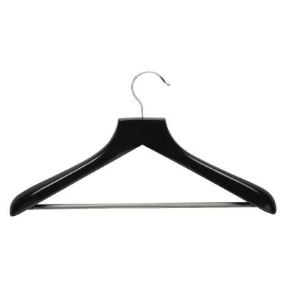 Ebony Curved Wood Suit Hangers (2-Pack)