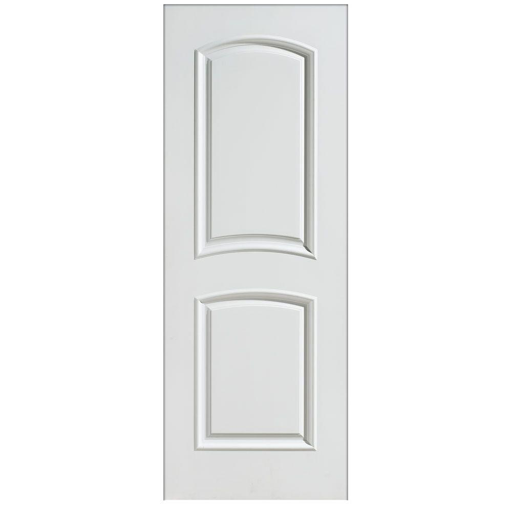Masonite 24 in x 80 in palazzo bellagio 2 panel arch top solid core smooth primed composite for Solid core interior doors soundproof