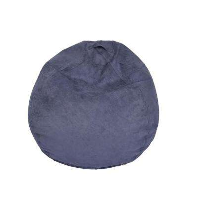Washed Blue Microsuede Bean Bag