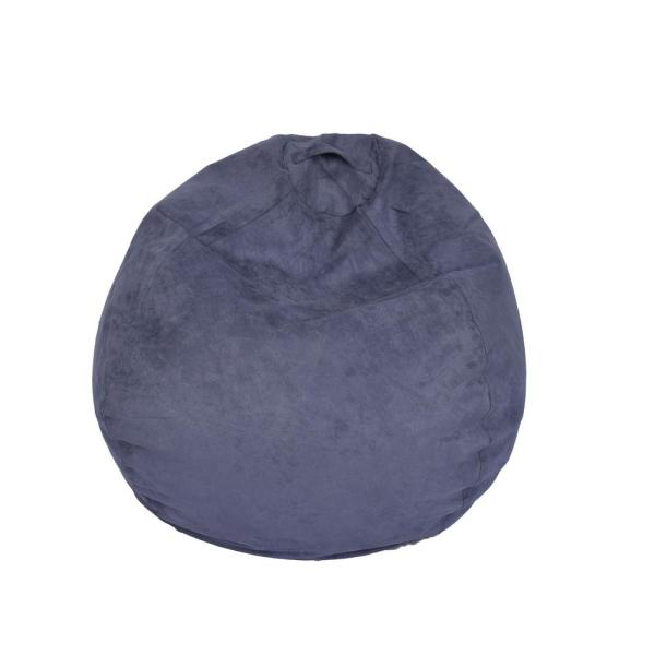 Incredible Washed Blue Microsuede Bean Bag Pdpeps Interior Chair Design Pdpepsorg