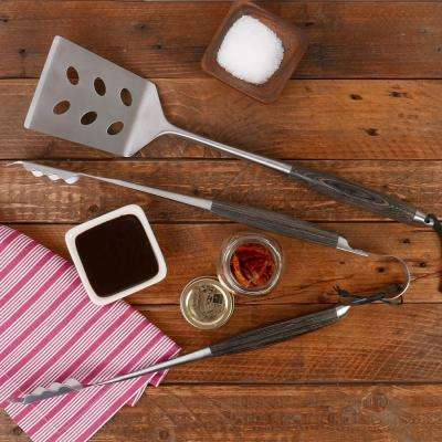 BBQ 2-Piece Grill Set in Ash