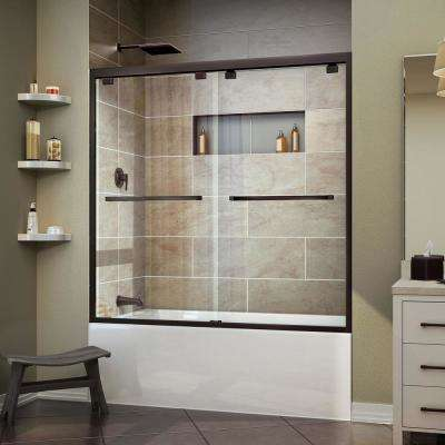 Encore 56 in. to 60 in. x 58 in. Framed Bypass Tub Door in Oil Rubbed Bronze