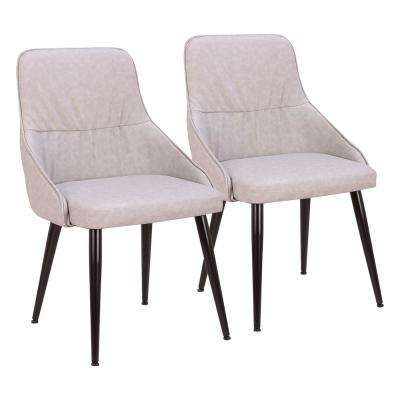 Alden Grey Faux Leather Dining Chair (Set of 2)
