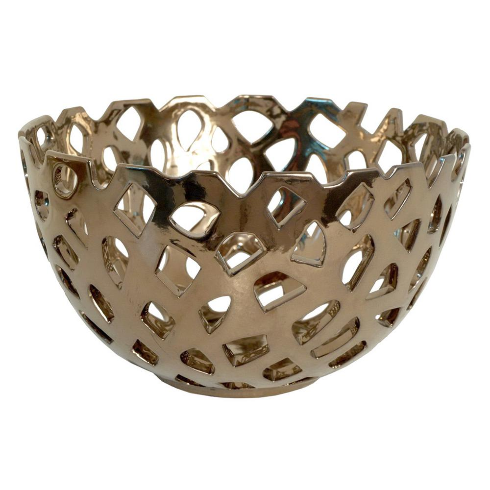 Bronze Ceramic Piered Bowl
