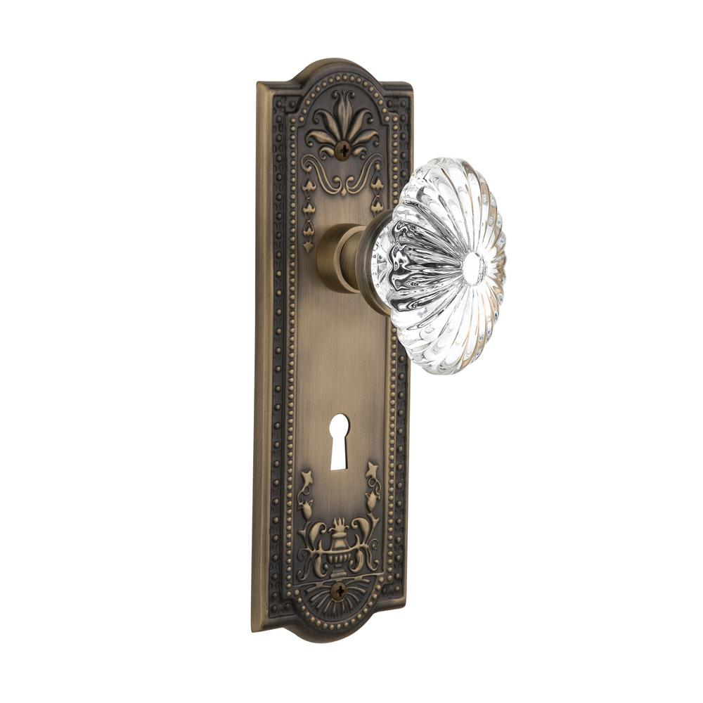 Nostalgic Warehouse Meadows Plate Interior Mortise Oval Fluted ...