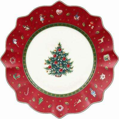 Toy's Delight 9.5 in. Red Salad Plate