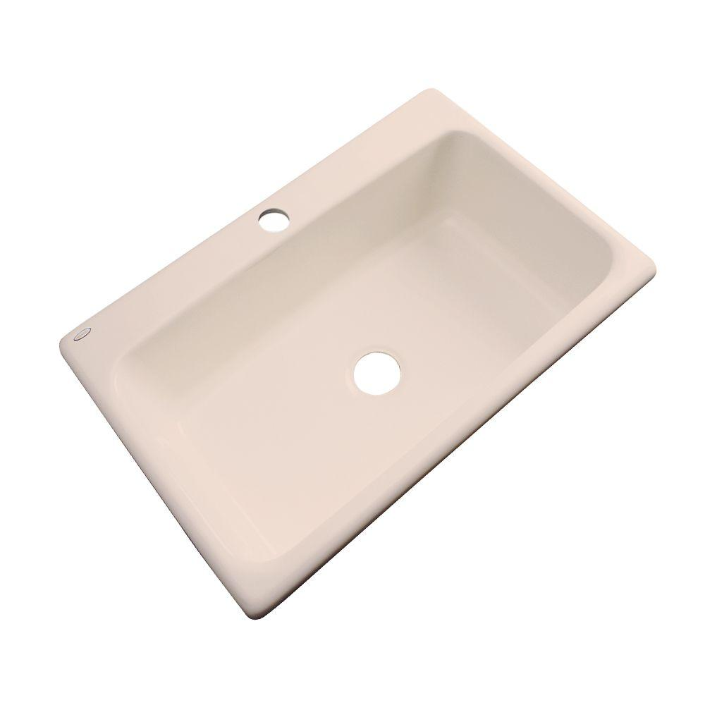 Hole Acrylic Black Single Kitchen Sink