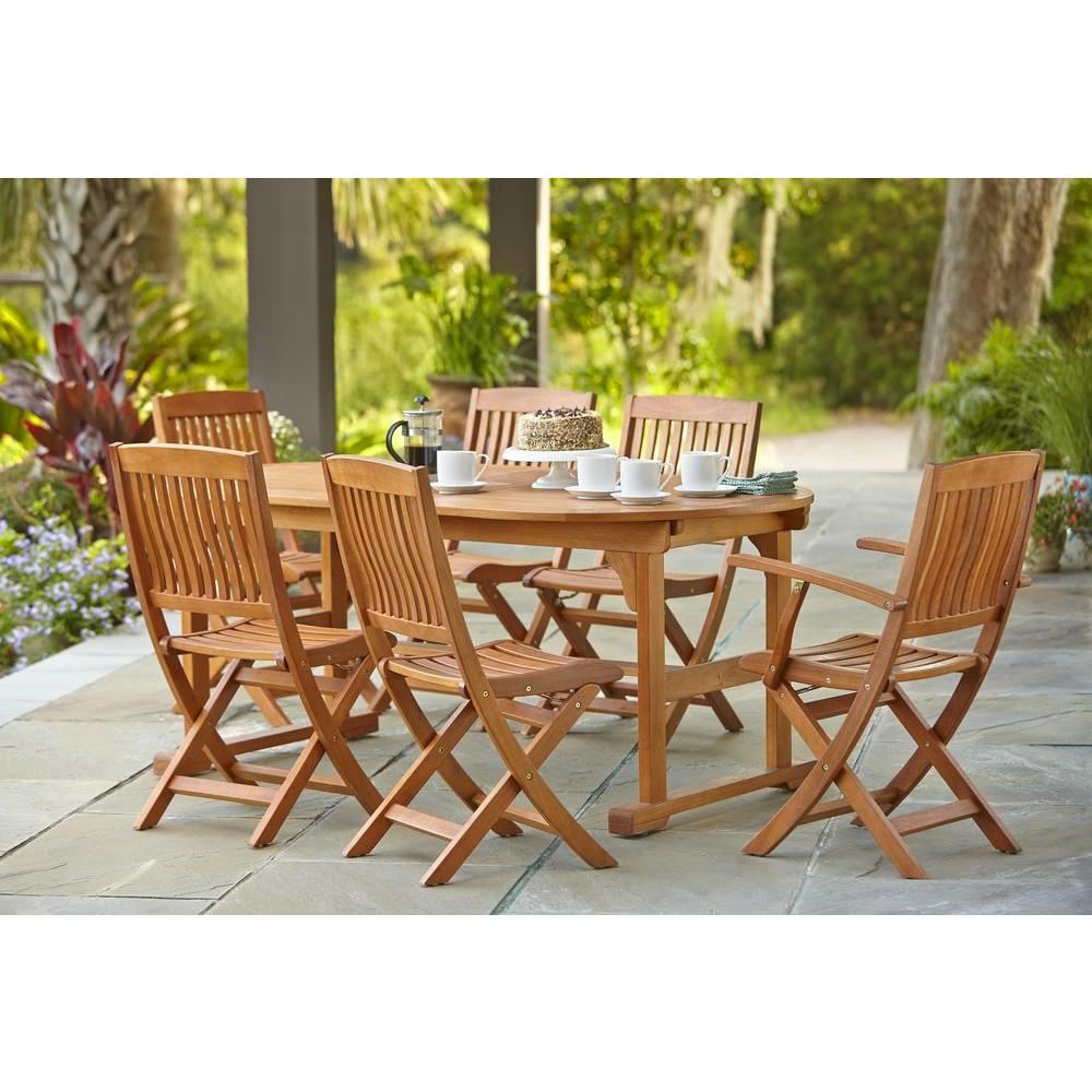 Hampton Bay Adelaide Eucalyptus 7 Piece Patio Dining Set SETT1738 C1729   The  Home Depot. Hampton Bay Adelaide Eucalyptus 7 Piece Patio Dining Set SETT1738