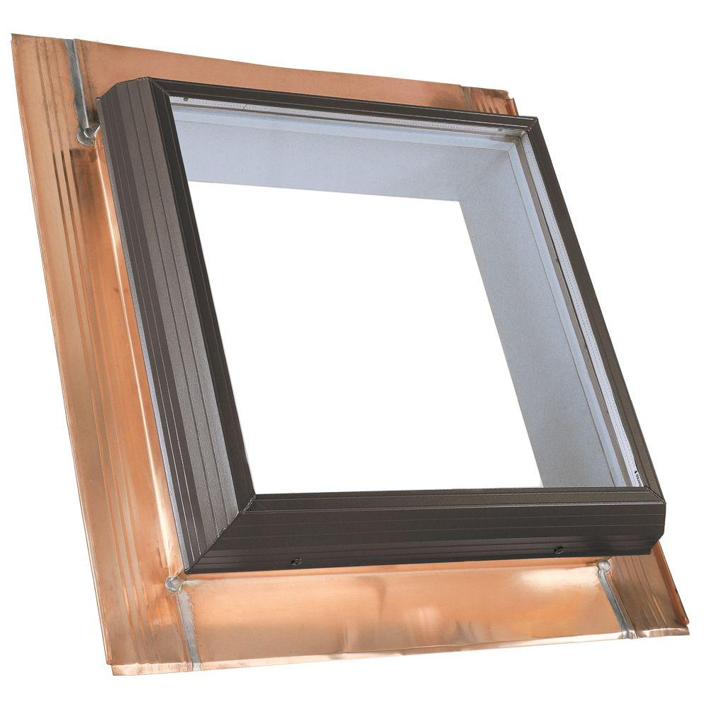 22-1/2 in. x 30-1/2 in. Fixed Copper Pan-Flashed Skylight with Tempered