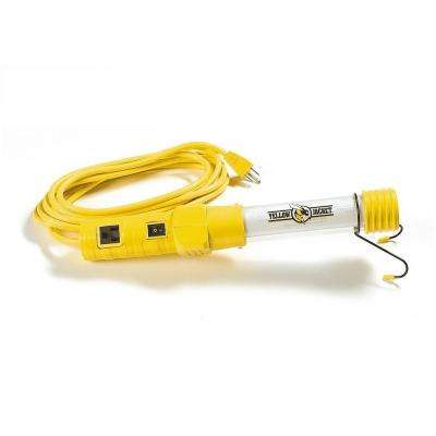 13-Watt 15 ft. 16/3 SJTW Fluorescent Portable Trouble Work Light with Hanging Hook
